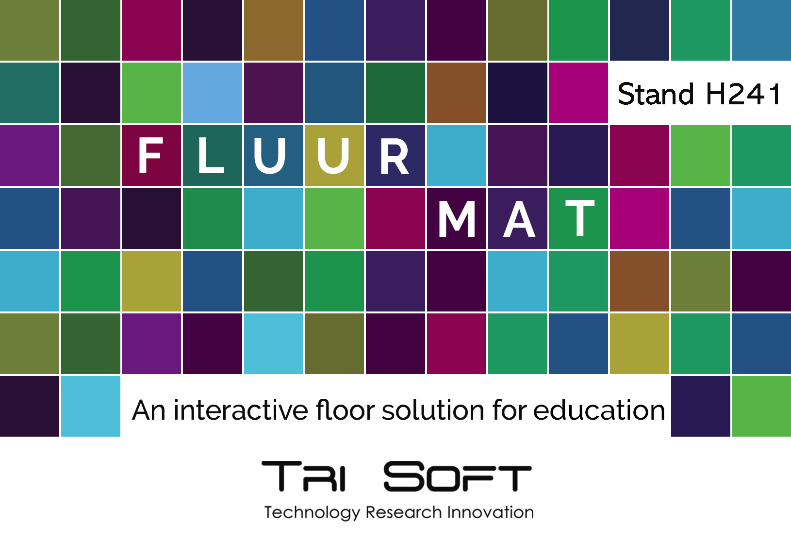 FluurMat interactive floors for education and entertainment BETT London Stand